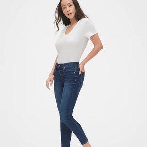 Gap Mid Rise Curvy Skinny Jeans in Indigo, Sz 4